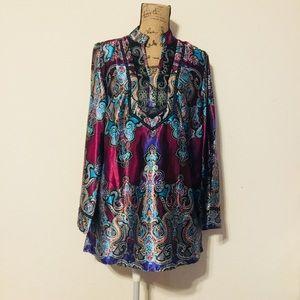A Beautiful Plus SZ Lane Bryant Scarf Shirt/Blouse